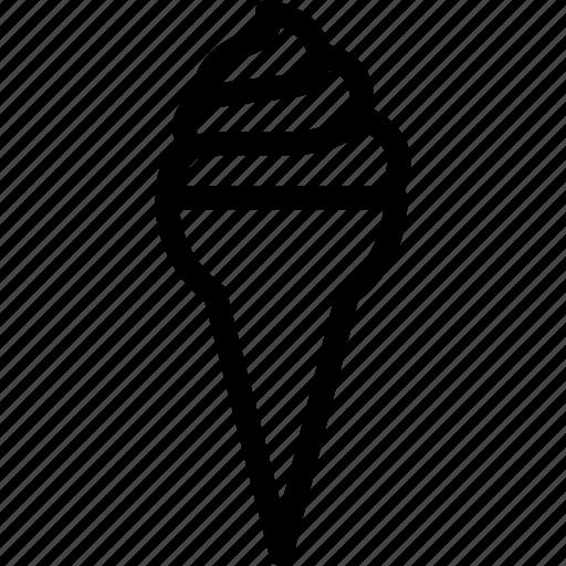cone, cornet, ice cream, ice cream cone, poke icon
