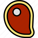 food, meat, meat slice, slice icon icon