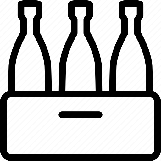 Bottles, wine, wine bottles, wine pallet icon - Download on Iconfinder