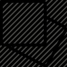 glass mat, mat, napkin icon