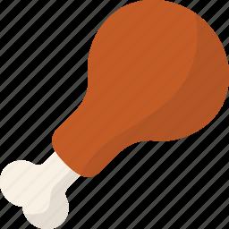 chicken, drumstick, meat icon