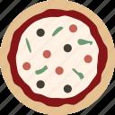 pizza, whole icon