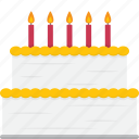 birthday, cake, dessert icon