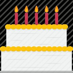 birthday, cake, dessert icon