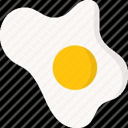 egg, fried, fried egg icon