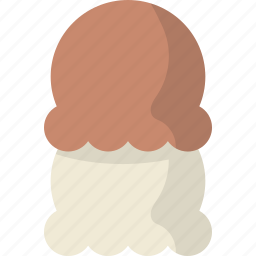 cream, dessert, ice, scoop icon