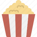 cinema, movie, popcorn, snack icon