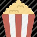 popcorn, movie, snack, cinema