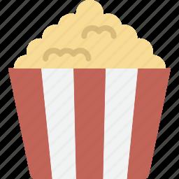 cinema, movie, popcorn, snack icon