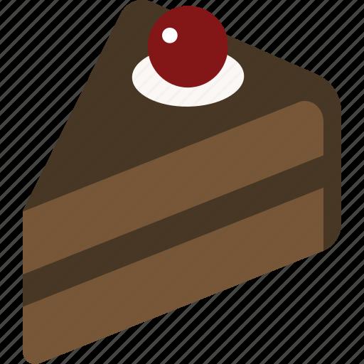 cake, chocolate, dessert, food, slice icon