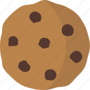 biscuit, chocolate chip, cookie icon