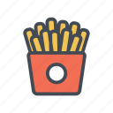 chips, fast food, food, french fries, fries, junk food, snack icon