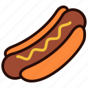 dinner, drink, food, hotdog, lunch, meal icon