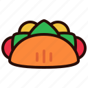 dinner, drink, food, lunch, meal, taco icon