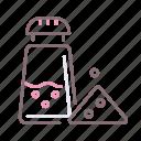 pepper, salt, seasoned, shaker icon