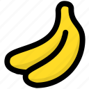 banana, fruit, fruitage, fruits icon
