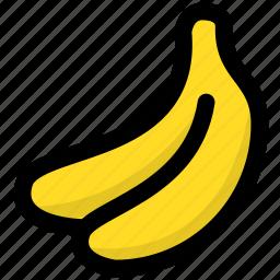 banana, fruit, fruitage, fruits icon