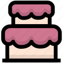 birthday, bread, cake, foods, holiday, holidays, party icon
