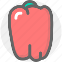 food, green, pimiento, produce, vegetable, vegetables icon