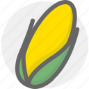 corn, ear, food, maize icon