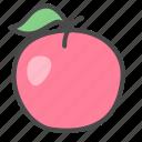 apple, food, fruit icon