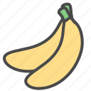 banana, bananas, fruit icon