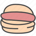bread, food, hamburger icon