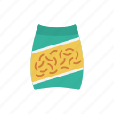 food, meal, noodles, pack, snack icon