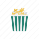 cinema, eat, food, popcorn, snack icon