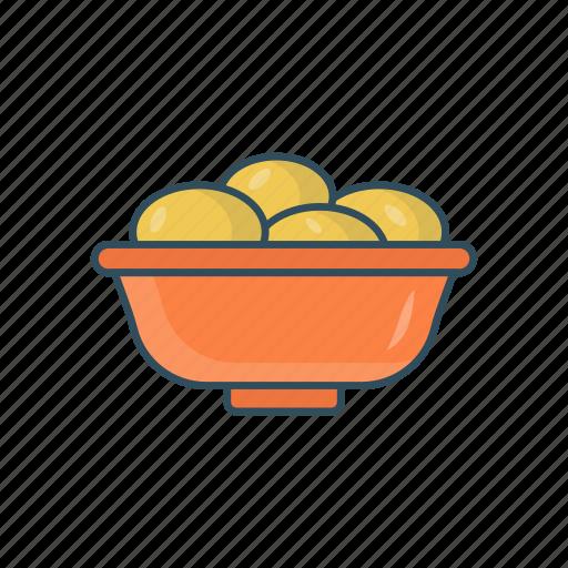 bowl, eat, food, potatoes, vegetable icon