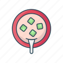 bowl, eat, meal, soup, spoon icon