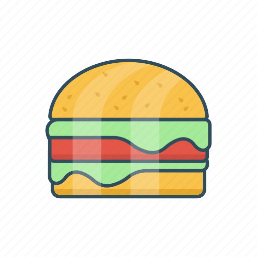 bread, burger, eat, fastfood, meal icon