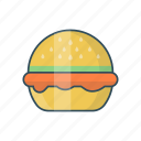 burger, eat, fastfood, lunch, meal icon