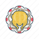 chicken, eat, food, meal, plate icon