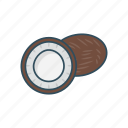 coconut, drink, eat, food, fruit icon