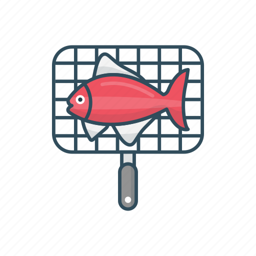 cooking, fishing, food, frying, meal icon