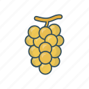 eat, food, fruit, grapes, wine icon