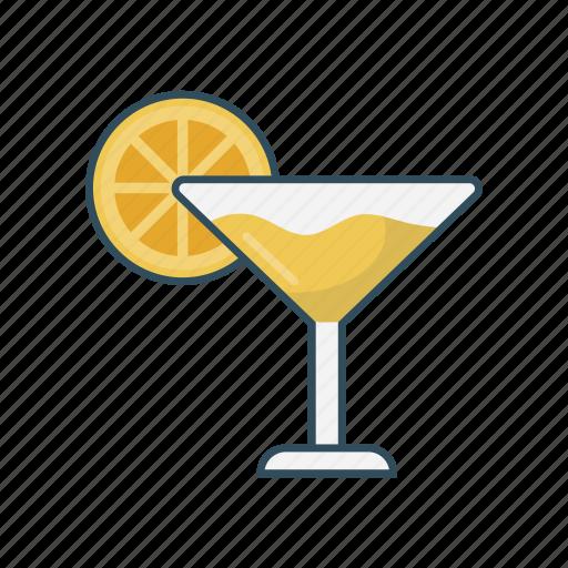 drink, glass, juice, lemon, soda icon