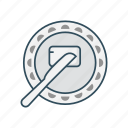 eat, food, knife, meal, plate icon