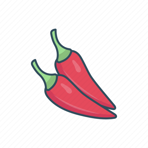 chili, cooking, ingredient, peeper, spice icon