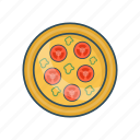 eat, food, meal, plate, tomato icon