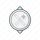 eat, food, fork, plate, spoon icon