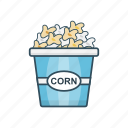 eat, food, papercup, popcorn, snack icon