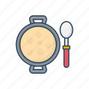 bowl, eat, food, soup, spoon icon