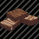 bakery, brownie, cake, dessert icon