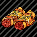 cuisine, enchilada, food, mexican, tortilla