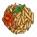 cuisine, gourmet, meal, pasta icon