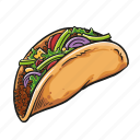 meal, taco, tacos, tortilla icon