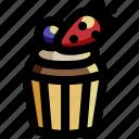 cake, cream, cupcake, dessert, food, fruits, sweets
