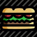 bread, burger, fast food, hamburger, loaf, sandwich, toast
